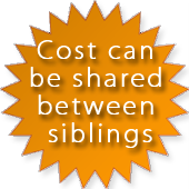 Cost Can Be Shared Between Siblings